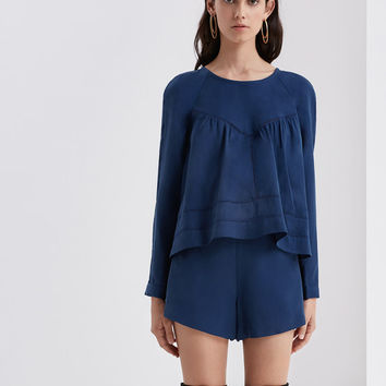 Buy Pelli L/S Top - Ink | Finders Keepers | The Birdcage Boutique