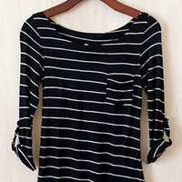 Perfect Everyday Shirt, Black Stripes