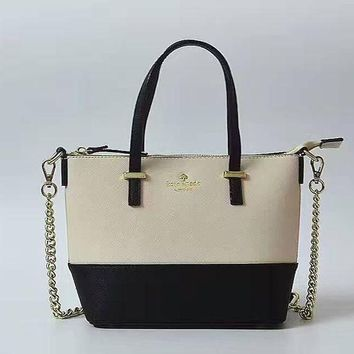 Gotopfashion KATE SPADE Women Shopping Leather Metal Chain Crossbody Satchel Shoulder Bag