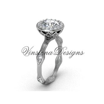 Platinum diamond engagement ring VF301011