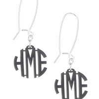 Monogrammed Earrings in Multiple Colors