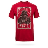 Come To The Dark Side We Have Bacon T-Shirt - Red,