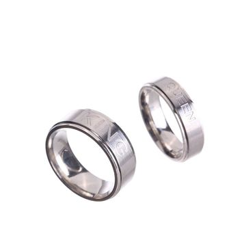 Valentine's Day Gift Stainless Steel King Queen Lovers Ring Spring Fashion Couple Men Women Anel Masculino Bague Homme Jewelry