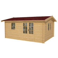 SolidBuild Aspen 12 Ft. W x 10 Ft. D Solid Wood Garden Shed