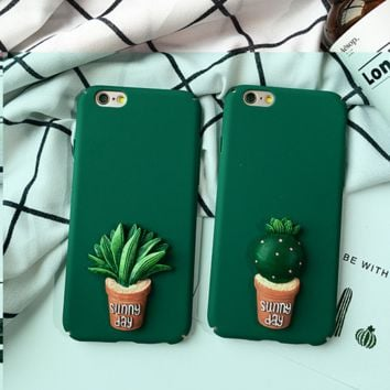 The cactus  iPhone 7 7Plus & iPhone 6 6s Plus Case + Gift Box
