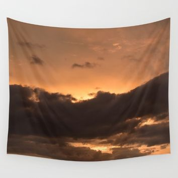 Costa Rican Sunset Wall Tapestry by UMe Images