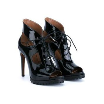 AZZEDINE ALAÏA   Patent Trekking Heels   brownsfashion.com   The Finest Edit of Luxury Fashion   Clothes, Shoes, Bags and Accessories for Men & Women