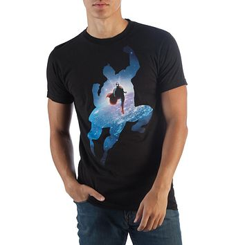 Superman Space Black T-Shirt
