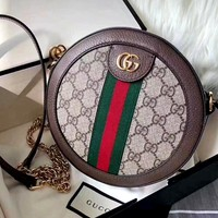 GUCCI Ophidia Tide brand women's mini round bag shoulder bag
