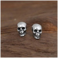 925 Sterling Silver Skull Earrings Studs Set Small Rock Punk Gothic Vintage Jewelry
