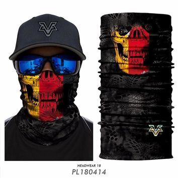 Cycling Seamless Bandana Skull Military Multifunctional Headband National Flag Germany Brazil UK Russian World Cup Magic Scarf
