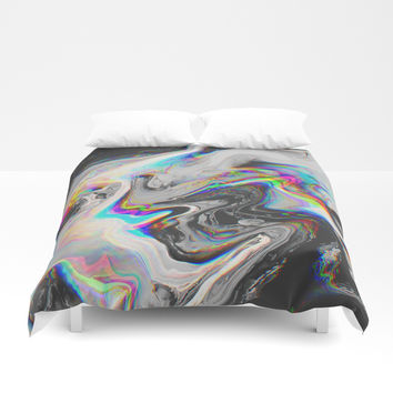 CONFUSION IN HER EYES THAT SAYS IT ALL Duvet Cover by Malavida