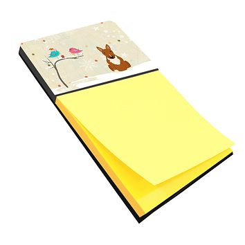 Christmas Presents between Friends Bull Terrier Red Sticky Note Holder BB2606SN