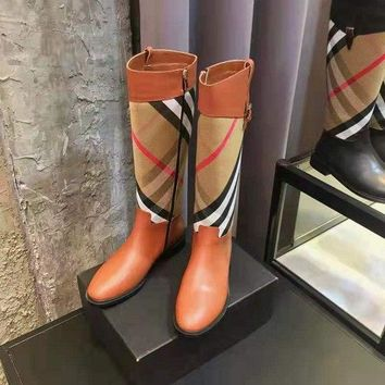 BURBERRY  Women Casual Shoes Boots  fashionable casual leather