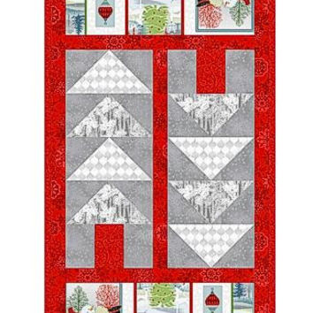 Holiday Cheer Table Runner in Red
