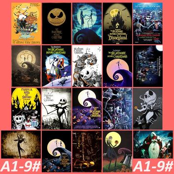 A1-9# The Nightmare Before Christmas 20/pcs PVC Series Sticker Home Decor Fridge Styling Wall Travel Suitcase Graffiti Styling
