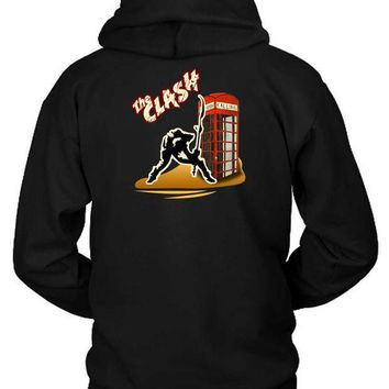 CREYH9S The Clash London Calling Break Hoodie Two Sided