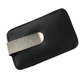 Personalized Money Clip with Card Holder