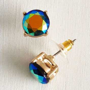Everyday Iridescence Earrings by ModCloth
