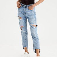 High-Waisted Tomgirl Jean, Classic Destruction