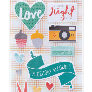 Fabric Stickers - Amy Tangerine, Stitched, Remarks Trimmed
