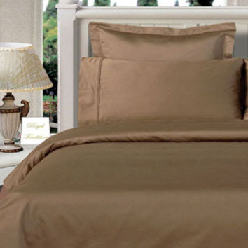 Taupe Twin XL Egyptian cotton Solid 3Pieces Alternative Comforter set