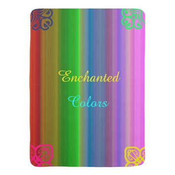 Enchanted Colors Stroller Blanket
