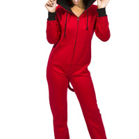 0737-30721419 Girls Fleece Devil with Tail and Horn Onesuit
