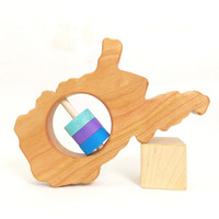 West Virginia State Wooden Baby Rattle™