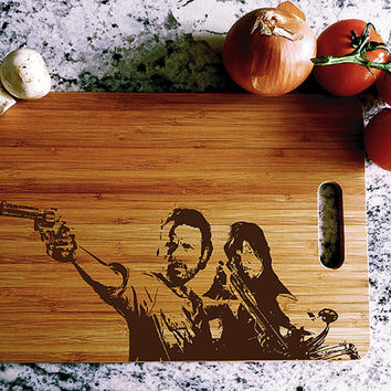 kikb555 Personalized Cutting Board series walking dead fan gift design board