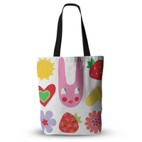 "Jane Smith ""Summer Repeat"" White Red Everything Tote Bag"