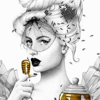"""Queen Bee"" - Art Print by Morgan Davidson"