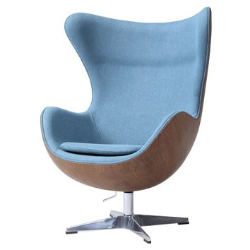 Axis Fabric Swivel Rocker Chair Flint Blue