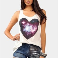 Love Galaxy Tank - Ivory at Necessary Clothing