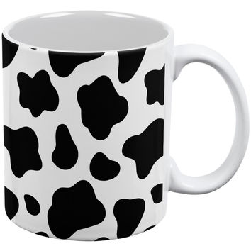 Cow Pattern White All Over Coffee Mug