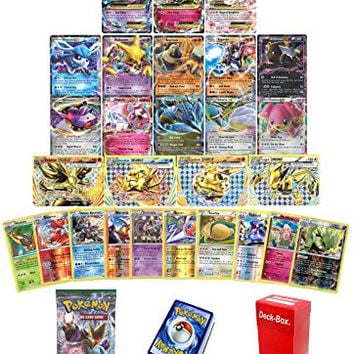 Pokemon TCG Ex, Mega or BREAK - Steam Siege Booster Pack - 30 Card Elite Trainer Kit Lot Free Deck Box - Holo Foil Rare Common Uncommon