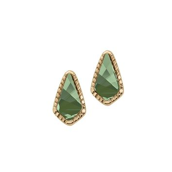 Sloane Stud Earrings In Emerald