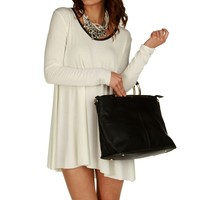 Sale-white Lets Go Tunic