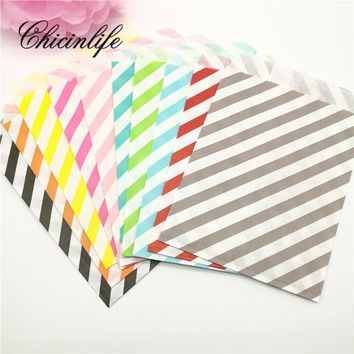 25pcs/lot chevron Grease Food Paper Popcorn Bags Wedding Birthday Goodie Gift Bags Packaging Candy box Party Supplies