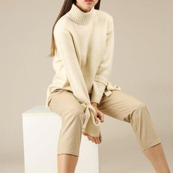 Shelby Tie Sleeve Sweater -
