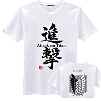 New Attack on Titan Shingeki no Kyojin White Short Sleeves T-Shirt Tee All Size & Free Shipping TEE85WT