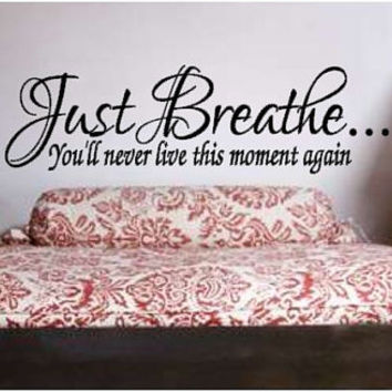 Just Breathe Vinyl Wall Art
