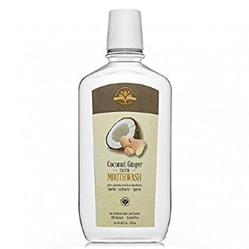 NEW!! All-Natural Alcohol-Free Coconut Ginger Xylitol Mouthwash (16 oz)