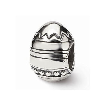 Sterling Silver s Easter Egg Bead by Reflection Beads, Best Quality Free Gift Box Satisfaction Guaranteed