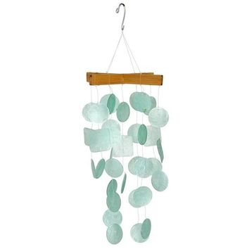 Artisan Crafted Capiz Shell Wind Chime in 4 Colors
