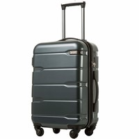 "Coolife Luggage Expandable(28"") Suitcase PC+ABS Spinner 20in 24in 28in Carry on"
