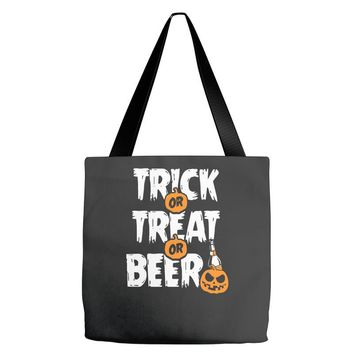 trick or treat or beer Tote Bags