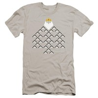 Adventure Time - Ice King Triangle Short Sleeve Adult 30/1 Shirt Officially Licensed T-Shirt
