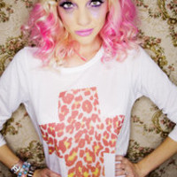 Tokyolux ? Sunrise Leopard Cross Long Sleeve Dress