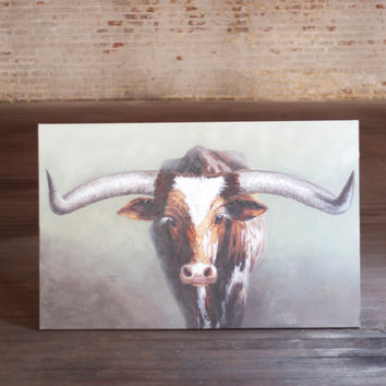 Oil Painting - Long Horn Steer